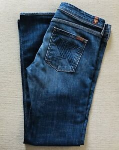 7-for-all-Mankind-Jeans-Womens-30-Style-Flynt-Bootcut-Dark-Wash-Mid-Rise-Stretch