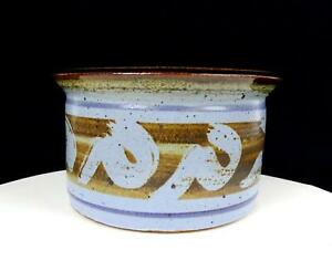 STUDIO-ART-POTTERY-REUTER-SIGNED-STONEWARE-BROWN-AND-BLUE-7-1-2-034-PLANTER