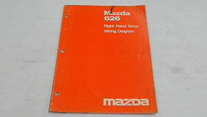 MAZDA 626 RIGHT HAND DRIVE RHD WIRING DIAGRAM MANUAL BOOK ...