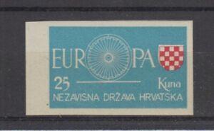 Europe-Cept-1960-Croatia-Cut-Cinderella-MNH
