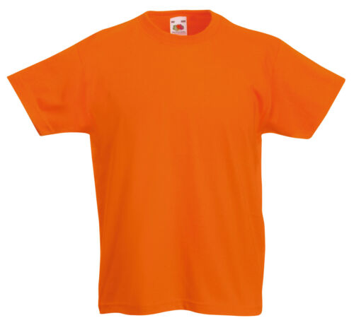FRUIT OF THE LOOM KIDS BOYS GIRLS T SHIRT TEE 12 COLOURS ALL AGES SS031
