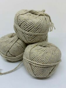 Organic-SEAWEED-yarn-50g-skein-3ply-macrame-weaving-vegan-friendly-Chunky