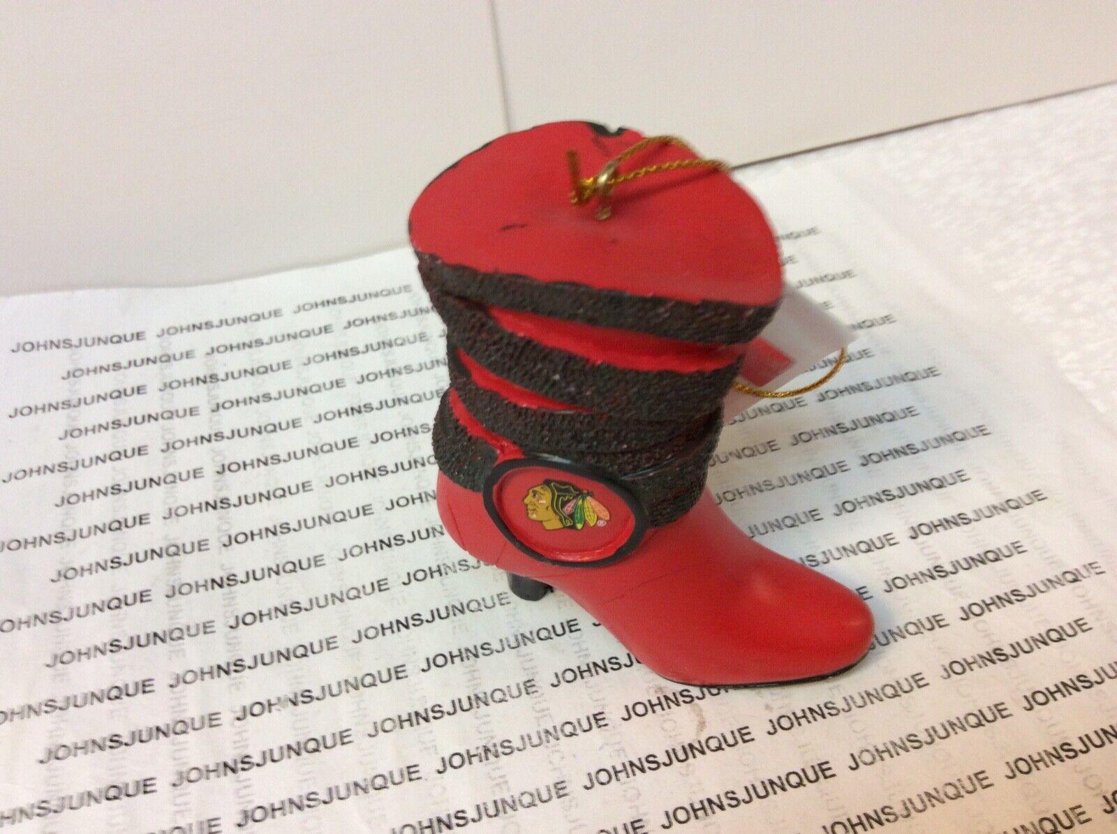 Team Sports America Chicago Blackhawks High Heeled Shoe Ornament