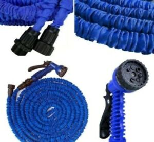 7,5m Flexibler Wasserschlauch Gartenschlauch dehnbarer Schlauch Flexibel blau