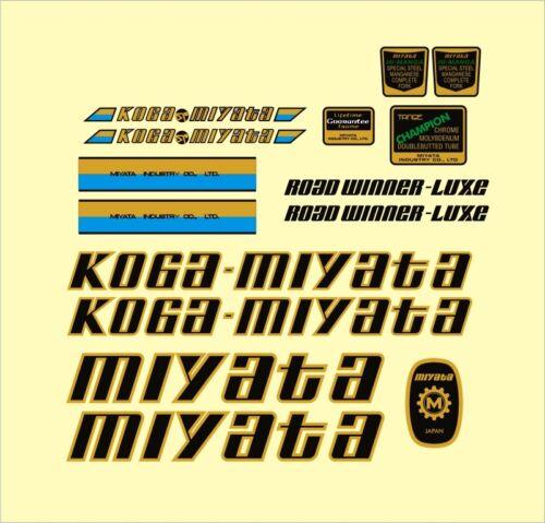 Koga Miyata RoadWinner-Luxe Frame Decal Set