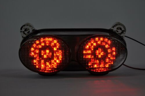 Grey Brake Tail light with Turn Signal for KAWASAKI NINJA ZX-6R;ZX-9R;ZZR600;ZR7