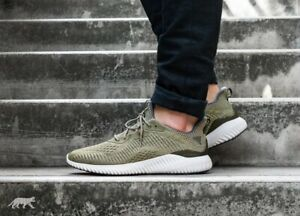 e2ffeda5f Adidas Alphabounce EM M Running Shoes Trace Olive   Grey Sz 8.5 Men ...