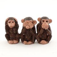 Miniature Three No Evils Chimpanzee Monkey 4524 Dollhouse Fairy Garden