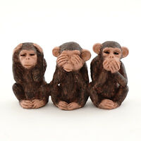 Miniature Three No Evils Chimpanzee Monkey 4524 Dollhouse Fairy Garden