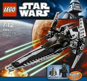 LEGO-Star-Wars-Imperial-V-Wing-Starfighter-7915-Complete-Set-Good-Condition
