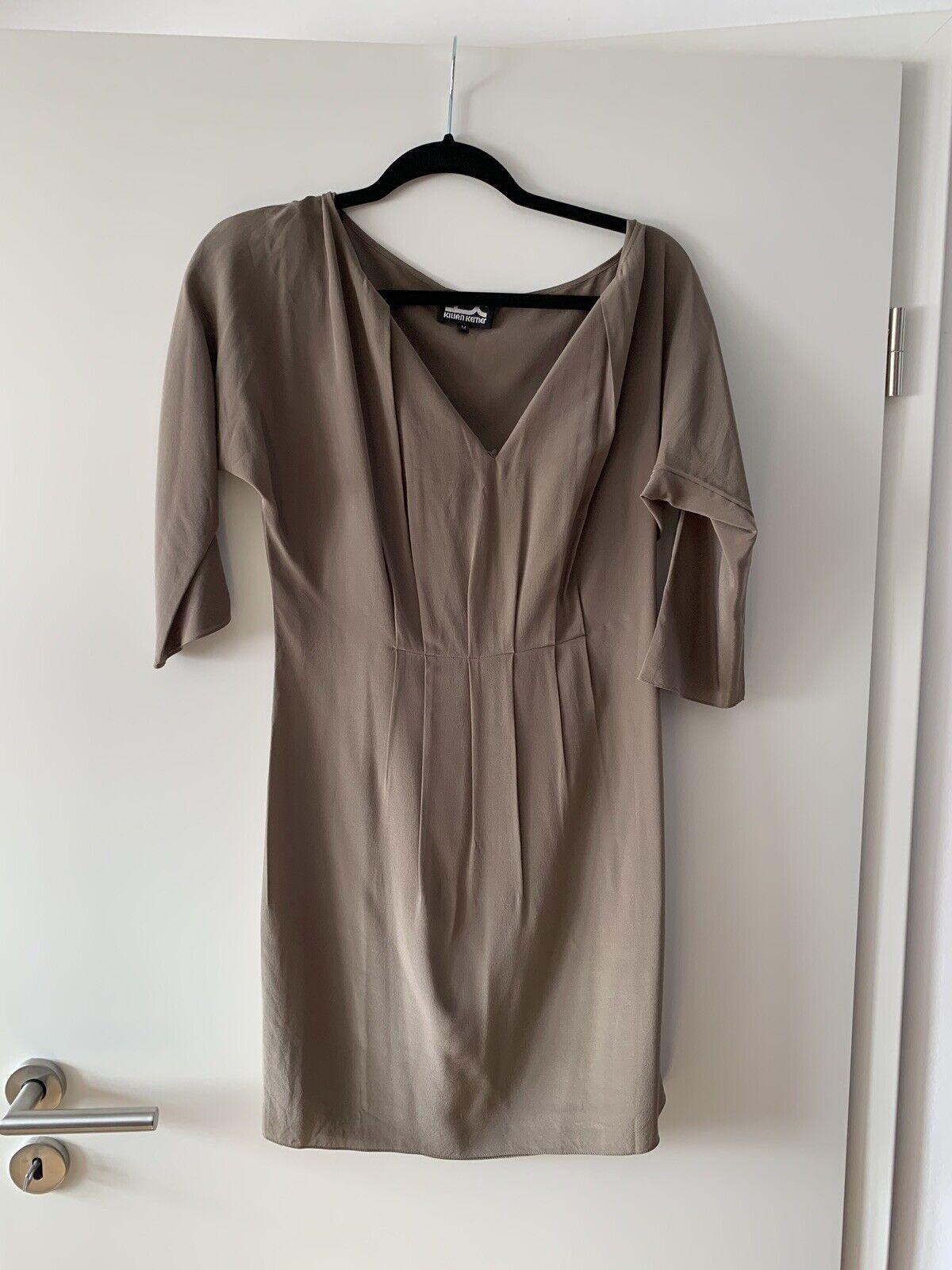 Traumhaftes Kilian Kerner Designerkleid 100% Seide Bronzebraun   Designer Dress