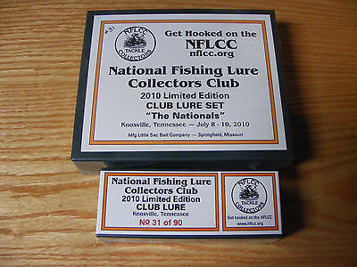 2010 Nationals NFLCC Club Lure Set made by Little Sac Bait Co with Special Lure