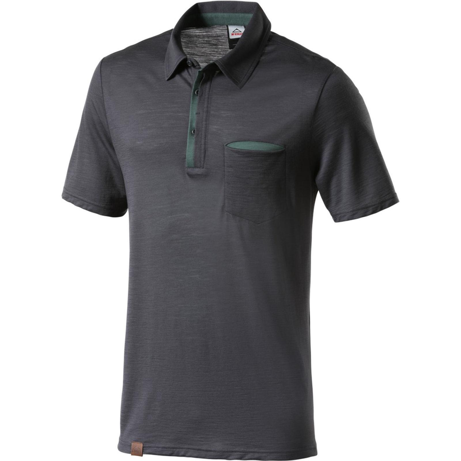 McKinley  señores senderismo ocio Polo Shirt Henderson Anthracite  marcas de diseñadores baratos
