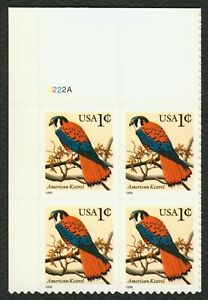 #3031 1c Americano Kestrel, Placa Bloque [3222A Ul ], Nuevo Cualquier 4=