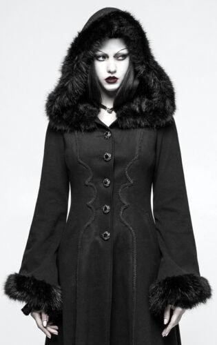 Capuche Broderie Corset Punkrave Cintré Fourrure Manteau Baroque Lolita Gothique qn0xHHtv