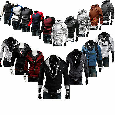 Various Mens Top Designed Zip Hoodie Jacket Coat Long Sleeve Sport Sweater Shirt