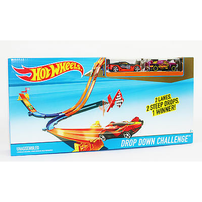 Hot Wheels Rennbahn, Hotwheels Looping Track Set Mega Rally Drop Down Turbo Race