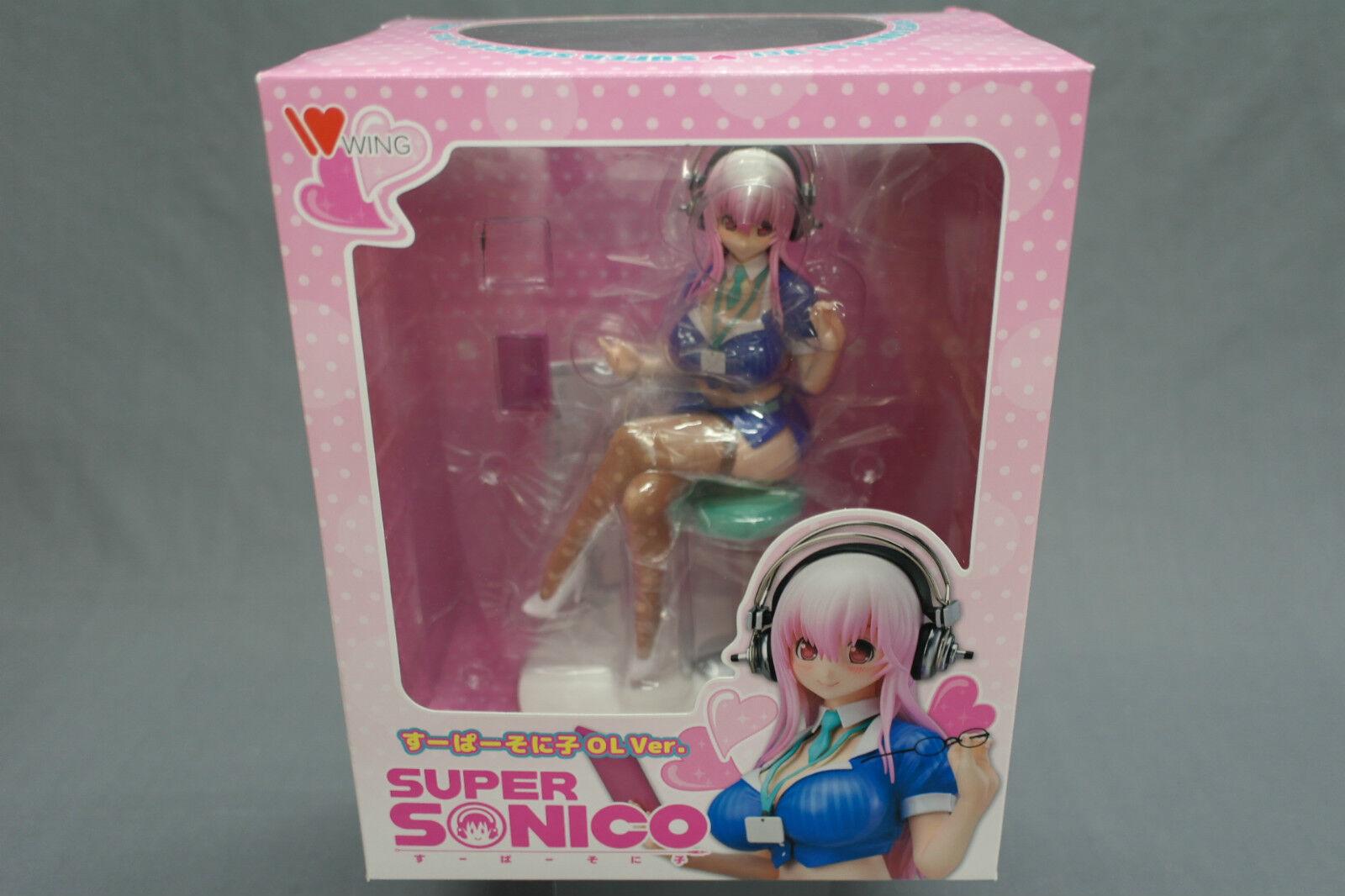 más vendido súper SONICO SONICO SONICO súper Sonico Office Lady Ver. 1 7 scale WING Japan (Good Conditon)  alta calidad