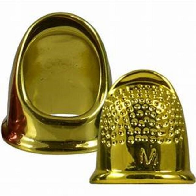 Vintage Roxanne Gold Plated Thimble, Size 3 Colonial Needle~ New in Package