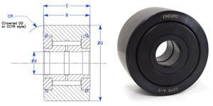 "Enduro CYR34S 3//4/"" Yoke cam follower roller bearing McGill CYR 3//4-S SHIPS FAST"