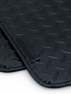 Pajero LWB 00-06 Black Leather Tri 5mm Rubber Mats for Mitsubishi Shogun LWB