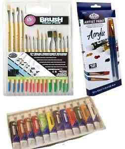 ARTIST-ACRYLIC-PAINTING-SET-12-X-12ml-TUBES-PAINT-amp-15-BRUSHES-RART15-amp-ACR12