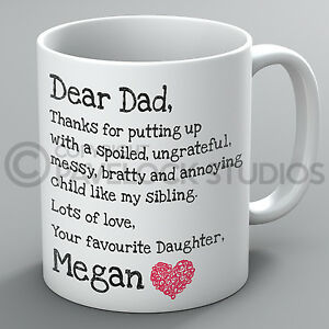 Image Is Loading Personalised Father 039 S Day Mug Dear Dad