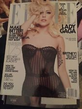 ELLE MAGAZINE JANUARY 2010-LADY GAGA, BRITNEY! VERY RARE!