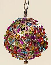 Deckenlampe Pinza 22x30cm bunt Orient Lampe Kristall Kristallleuchter rund Neu
