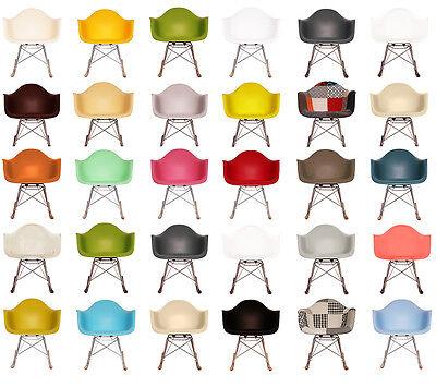 RAR Style Scandi ROCKING Arm Chair WALNUT / NATURAL WOOD Base!