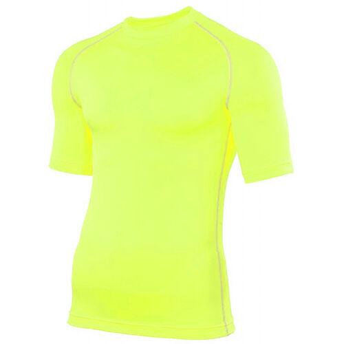 Rhino Couche De Base Top Pour Homme//Femme à manches courtes de compression pour Sports//Gym//Rugby