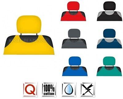 2 x RED CAR VAN MINIBUS HEADREST PROTECTIVE COVER SLEEVE