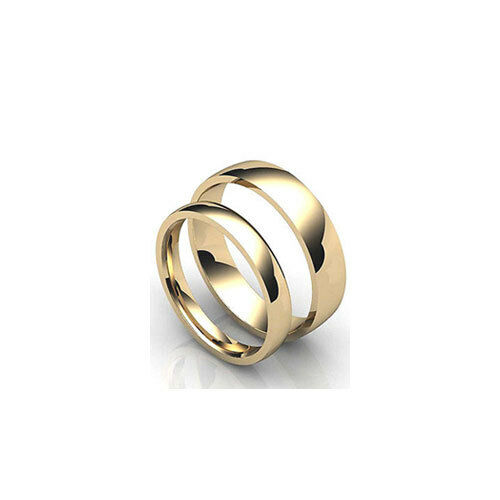 9ct Yellow Gold Court Shaped Wedding Band 3mm-6mm  Light Weight.