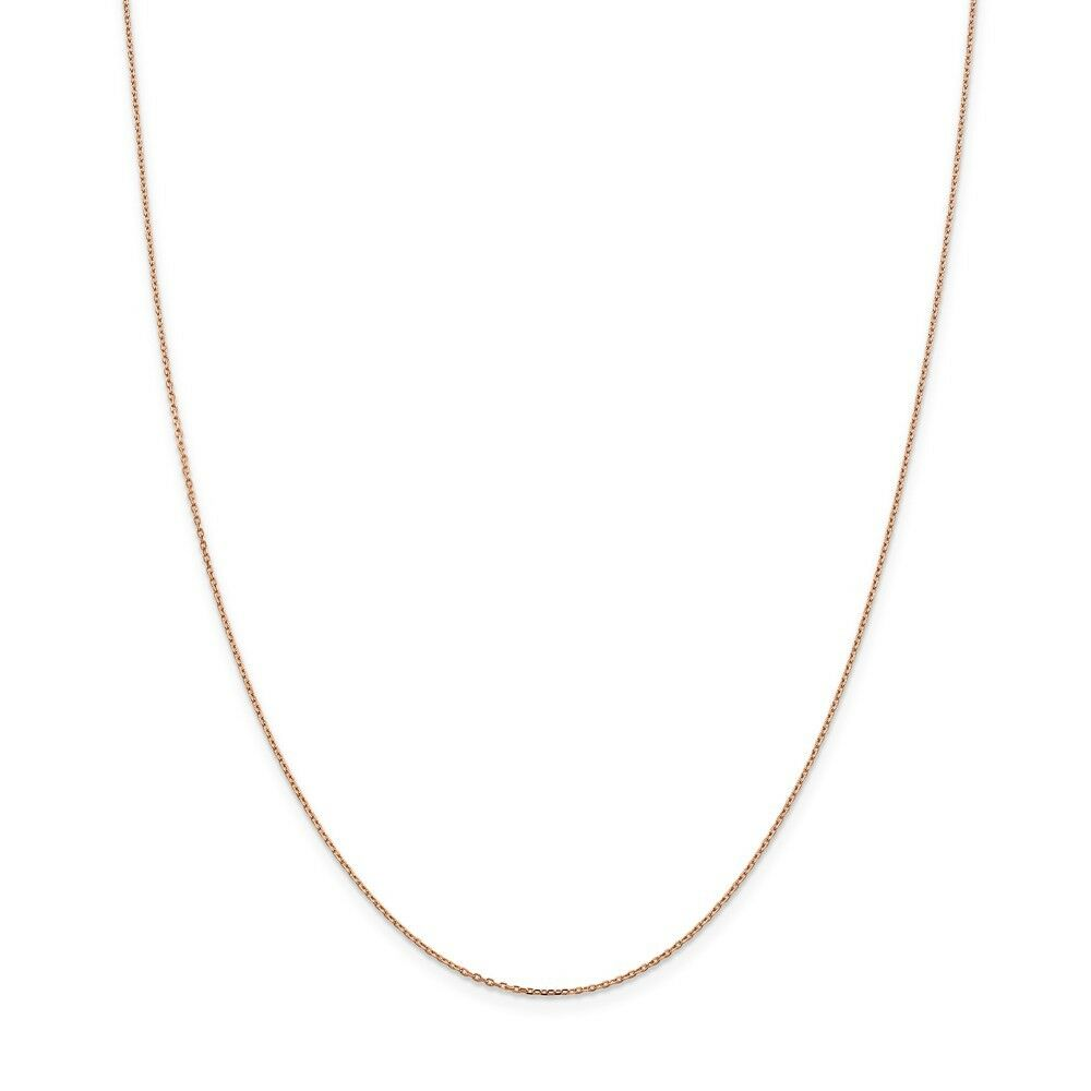 14kt pink gold 1.0mm Cable Chain; 24 inch