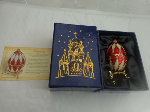 ATLAS EDITIONS FABERGE EGG HARLEQUIN COLLECTABLE TRINKET BOX