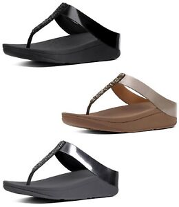 2fbf1fa43 Image is loading FitFlop-Women-039-s-Fino-Toe-Thong-Sandals