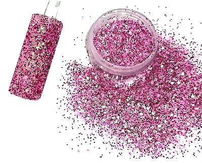 2,5g Glitter-Pailetten-MiX  Flamingo. Wunderschöne Farbe. (GL. R.u.)