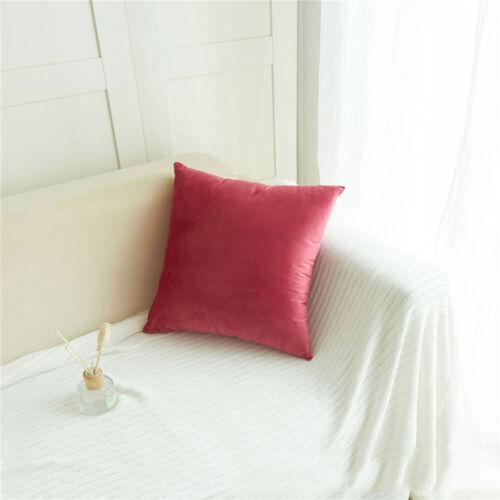 Housse de coussin luxe velours Home Decor 12 couleurs 45 x 45 cm
