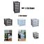 Plastica-CASSETTO-poco-profonde-Tower-STAND-Office-Home-da-cucina-contenitore-di-stoccaggio-Holder miniatura 1