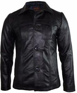 HERREN LEDERBLAZER LEDERMANTEL Leder Sakko Lederjacke Suit