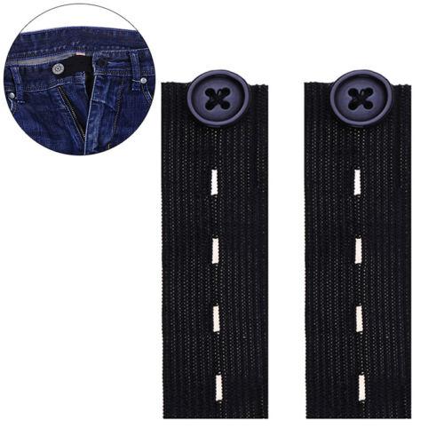 10pcs Elastic Trouser Waist Adjustable Maternity Waistband Button Extender DSDA!