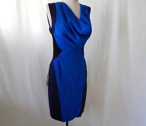 ETCETERA-TRI-COLOR-BLUE-SHEATH-DRESS-sizes-0-2-4-6-8-10-NEW-295