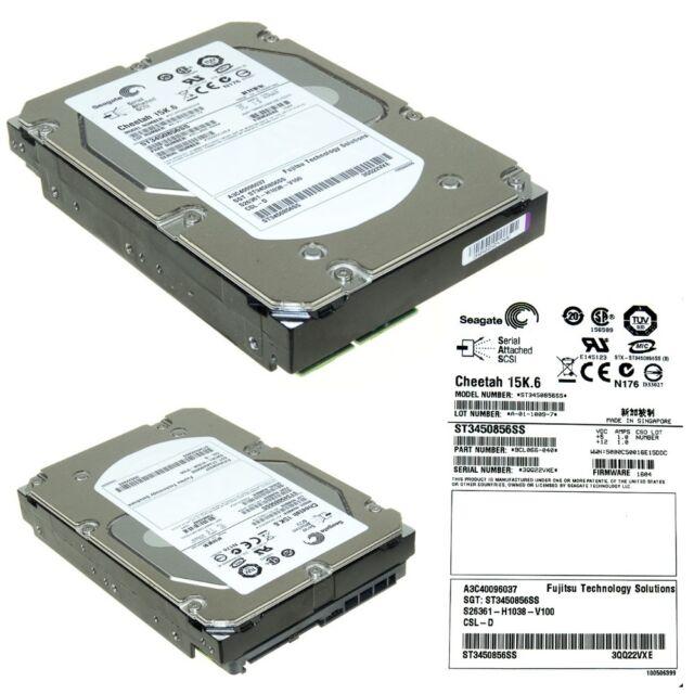 "NEW Dell EqualLogic Cheetah 450GB SAS 3.5/"" 15K RPM 0933543-04 RG5VK ST3450856SS"