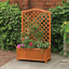 thumbnail 1 - Rectangular Planter With Trellis Support Large Wooden Outdoor Patio WIth Legs