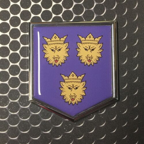 "Dalmacija Flag Domed CHROME Emblem Flag Car 3D Sticker 2/""x 2.25/""  Croatia Hajduk"
