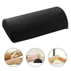 Memory Foam Half Moon Bolster Knee Neck Roll Pillow Lumbar Pain Support C1Q0