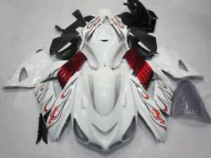 White Red Fairing ABS Kit for Kawasaki Ninja ZX14 ZX14R ZX