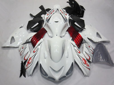 White Red Fairing ABS Kit for Kawasaki Ninja ZX14 ZX14R ZX-14R