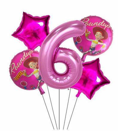 Toy Story Cowgirl Jessie Folien Luft Ballon Zahl 2 3 4 5 6 7 8 9 Pink Geburtstag