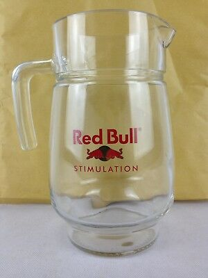 red bull stimulation glass jug pitcher bar xmas party cocktail man cave ebay. Black Bedroom Furniture Sets. Home Design Ideas